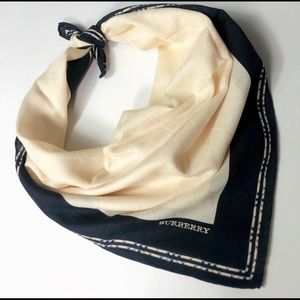 Vintage Burberry Mini scarf-handkerchief